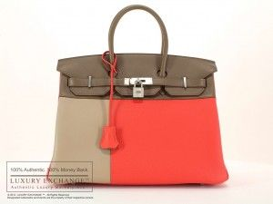 Luxury Exchange™ is proud to present a Cascade Tricolor Birkin 35cm bag by Hermes. This is a limited edition Birkin.