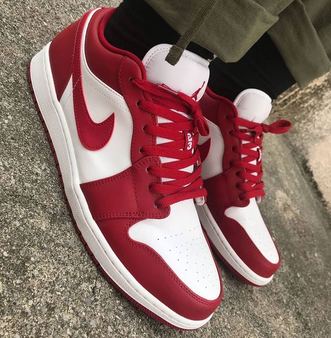 air jordan 1 low homme rouge et blanc
