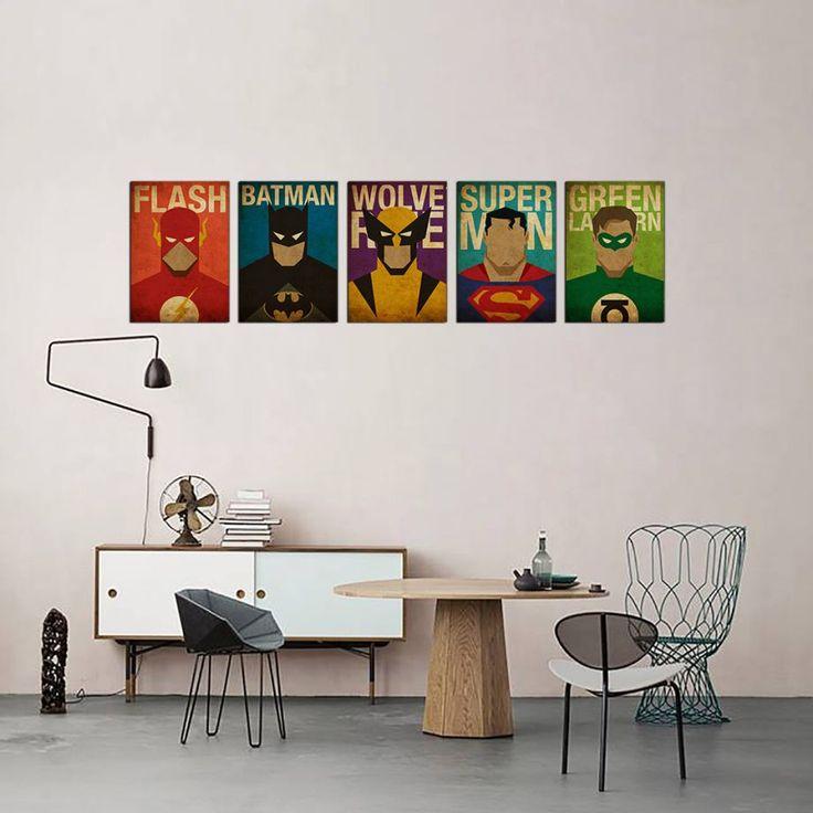 Süper Kahramanlar - 5 Adet Metal Poster Zet.com'da 200 TL
