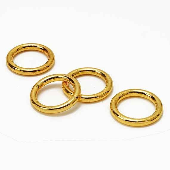 1-3/8'' Metal Gold O-Ring Belt Buckle Fashion Jewelry