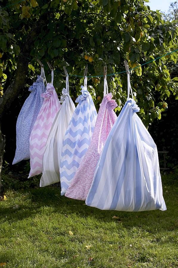 £12.95 Cotton Laundry Bag in Pavillion - all are Made in England