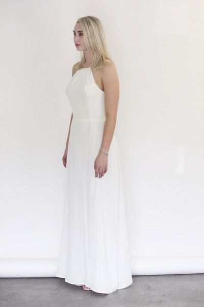 Céline Rita NZ Designer Bridesmaid Dresses Backless Ivory