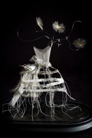 Jane Corbett 'Frailty' Stainless steel fabric and wire, private collection, Giles Penfound Photography