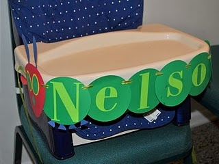 Highchair banner...made from painted papers