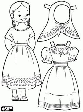Dibujos para colorear de Juegos de Vestir , dibujos para