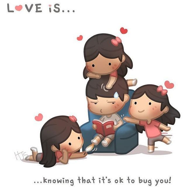 I don't know about all that climbing on his head...but it's still cute #love #cute #hjstory #bug #him