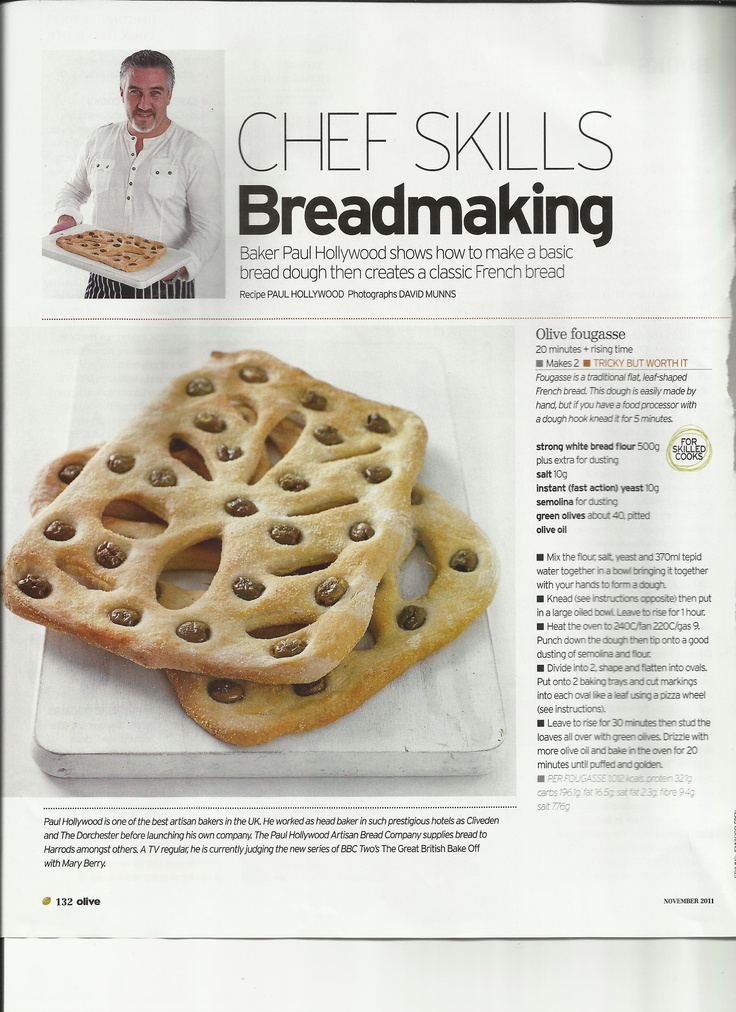 Bread - Olive fougasse / part 1 Paul Hollywood