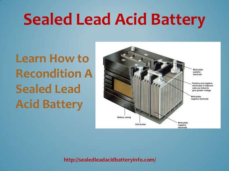 How To Recondition Old 12v Car Battery ...