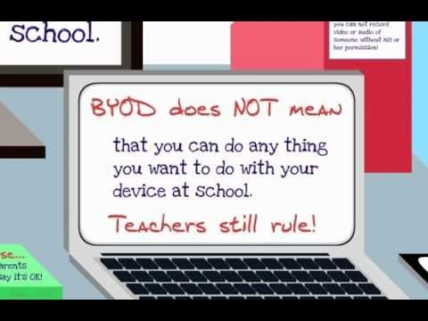 BYOD for Students.  Great to show students to reiterate that they have to make good decisions in participating in BYOD.