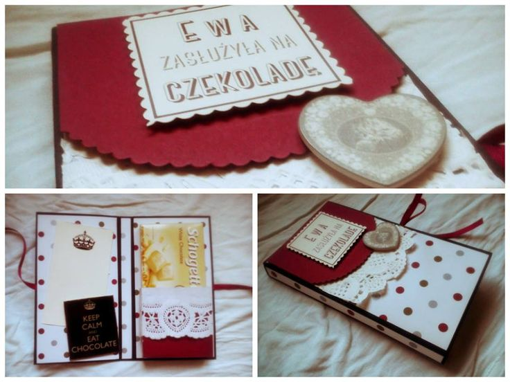 """Chocholate pocket card for Ewa (""""Ewa deserved for a chocholate"""")"""