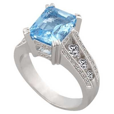 Blue topaz is the emblem of friendship and love and celebrated as the 4th and 19th #wedding #anniversary stone.