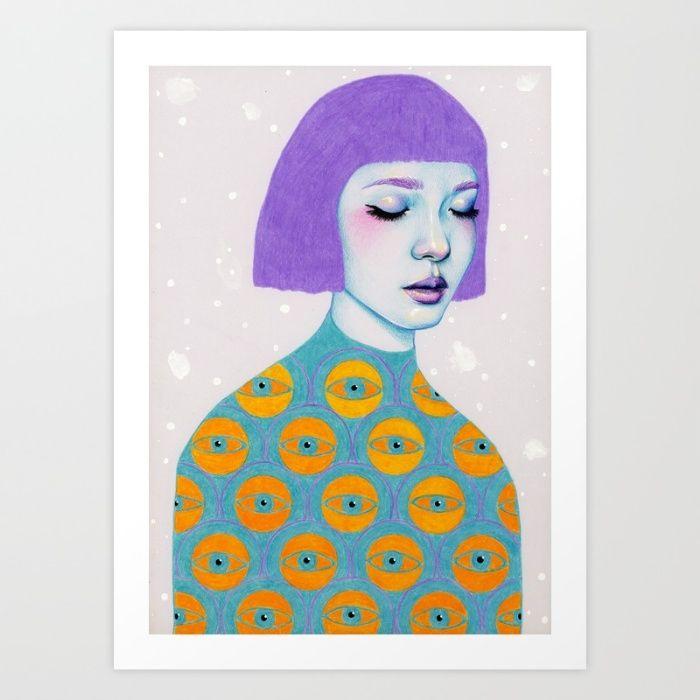 The Observer Art Print by Natalie Foss | Society6