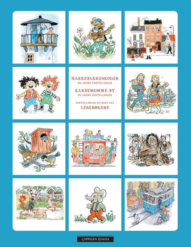 Klassiske barnebøker av blant annet Torbjørn Egner, Astrid Lindgren og Elsa Beskow