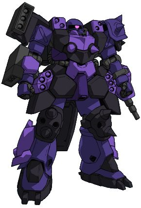 """The GPB-06F Super Custom Zaku F2000 is a custom variant of the original MS-06F2 Zaku II F2 Type. It is featured in the anime Model Suit Gunpla Builders Beginning G OVA. It was piloted by Gunpla builder Tatsu Shimano. The name F2000 is a pun, meaning """"1000 times stronger than F2 type""""."""
