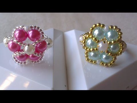 Como Hacer CENTROS EN PERLAS Paso a Paso PEARL CENTER EMBELLISHMENTS Tutorial DIY How To PAP - YouTube