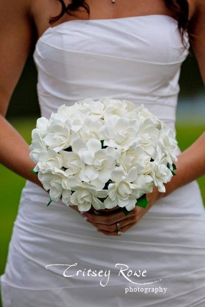 Couture Clay  Gardenia Wedding Bouquet  Made to от dkdesignshawaii