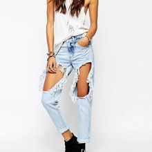 2016 new fashion high quality destroyed tear boyfirend damage jeans for women in china factory Best Seller follow this link http://shopingayo.space