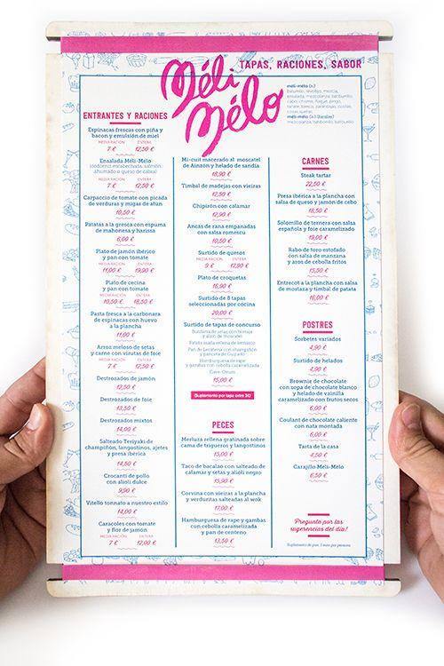 Cartas para el Restaurante Méli-Mélo