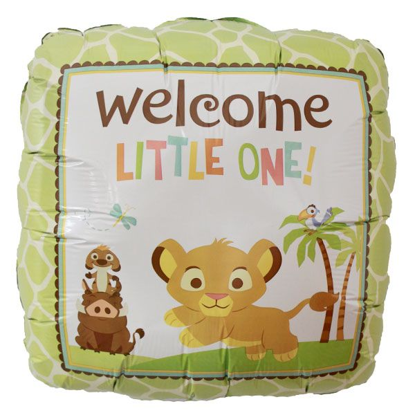 Lion King Welcome Little One Foil Balloon Baby Shower