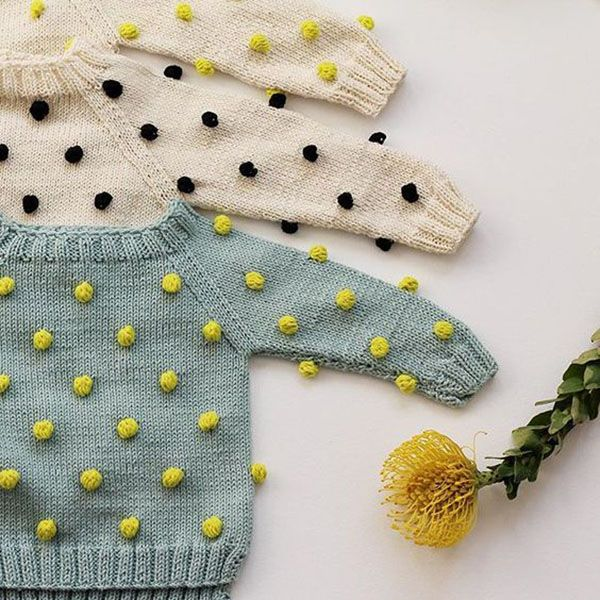 Baby Knit Bobble Stitch, I wonder if little people will pick at these bobbles. Maybe better for toddlers rather than little babies.