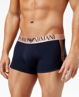 EMPORIO ARMANI Emporio Armani Men's Shiny Logo Trunks. #emporioarmani #cloth # underwear