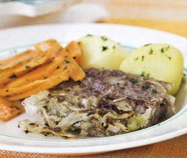 Köttfärsgratäng med vitkål och curry | Recept ICA.se