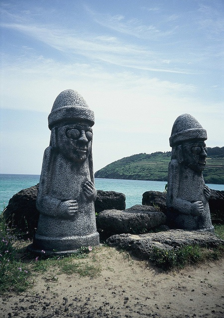 Jeju Statues by mezza_W, via Flickr