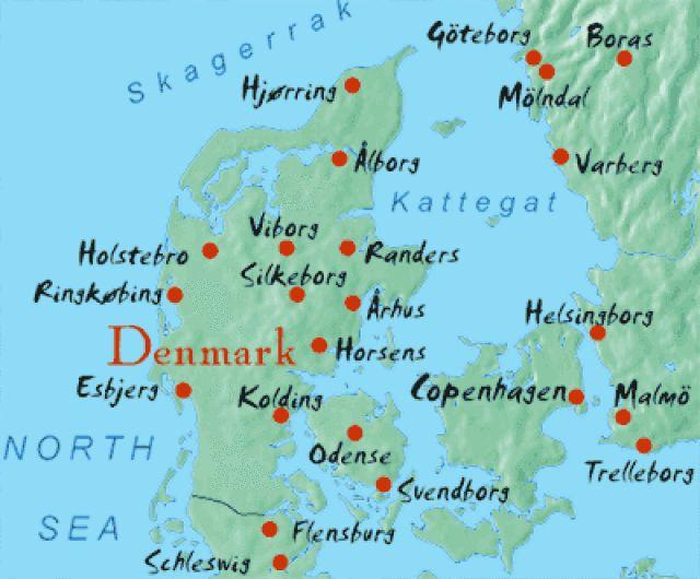 Best Denmark Map Ideas On Pinterest Map Of Denmark Sweden - Denmark map