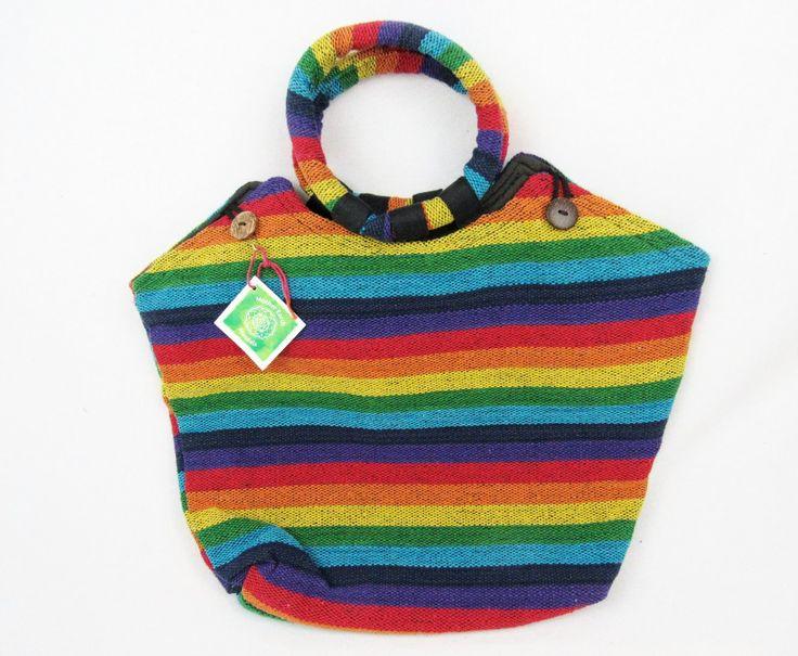 Rainbow love beach bag