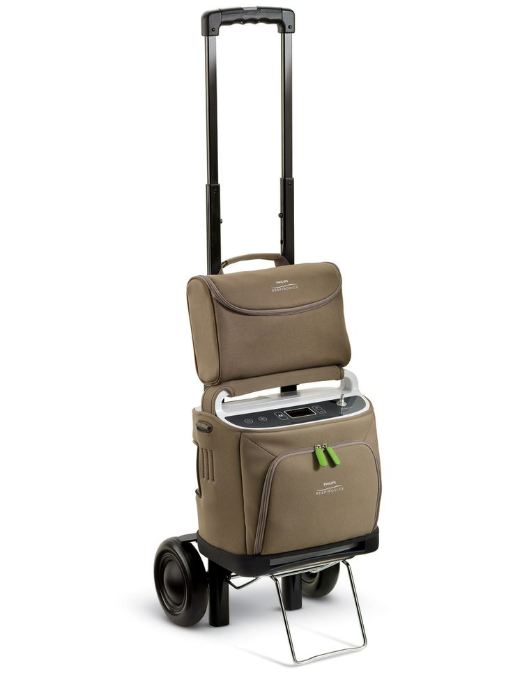 SimplyGo Portable Oxygen Concentrator by Respironics 1068987. Approved by FAA for air travel.