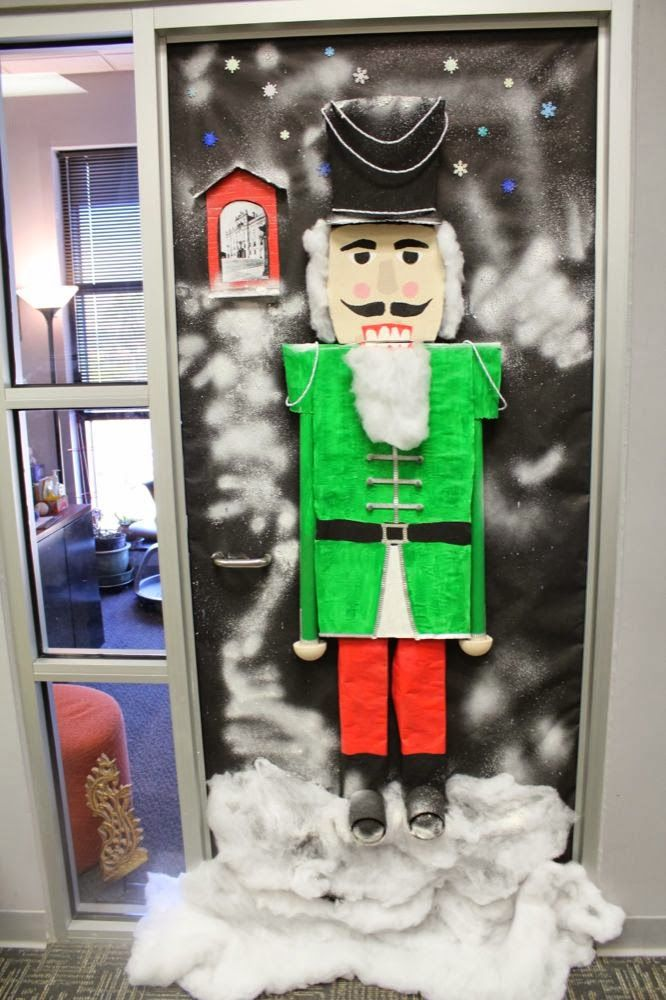 2013 LEC door decorating contest  Nutcracker guarding the castle  holiday cheer  Office