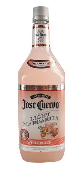 Jose Cuervo Light Margarita White Peach - A new refreshing and great tasting Jose Cuervo--Light White Peach ready to drink cocktail.  A guilt free margarita at under 95 calories per serving.