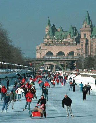 Skate on the Rideau Canal in Ottawa during Winterlude