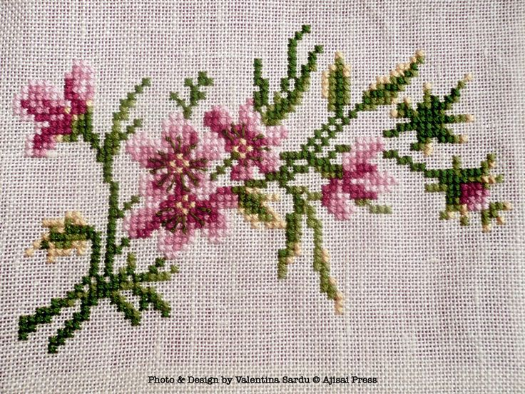 Just Cross Stitch Patterns Free | Cross stitched flowers