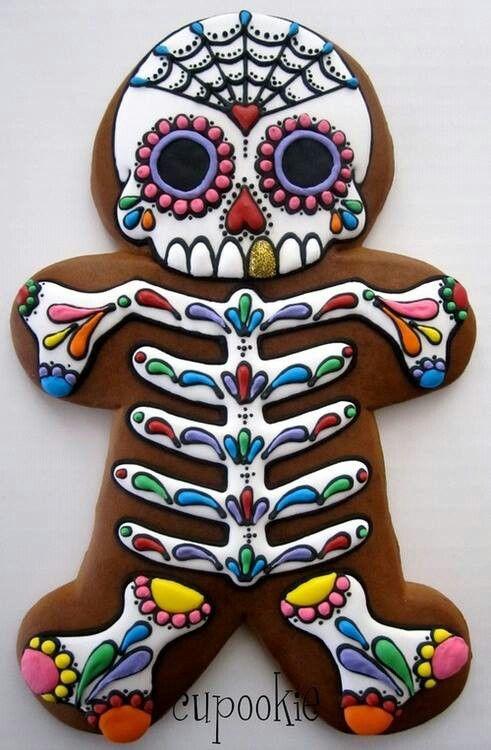 Dia de Los muertos gingerbread man