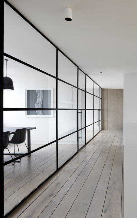 glass wall.