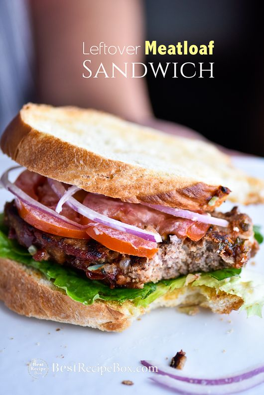 Awesome meatloaf sandwich recipe using leftover meatloaf. Our best meatloaf recipe is easy and great for making leftover meatloaf sandwich recipe