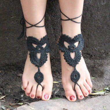 Crochet Cotton Sandals