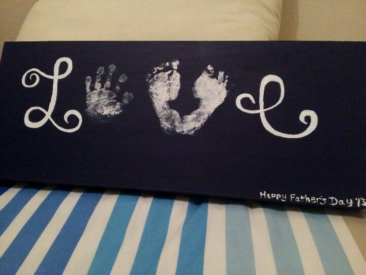 Love hand and foot print, first fathers day gift