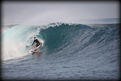 My favorite wave ever was about this size right here at Playgrounds, Nusa Lembongan, Bali, Indonesia