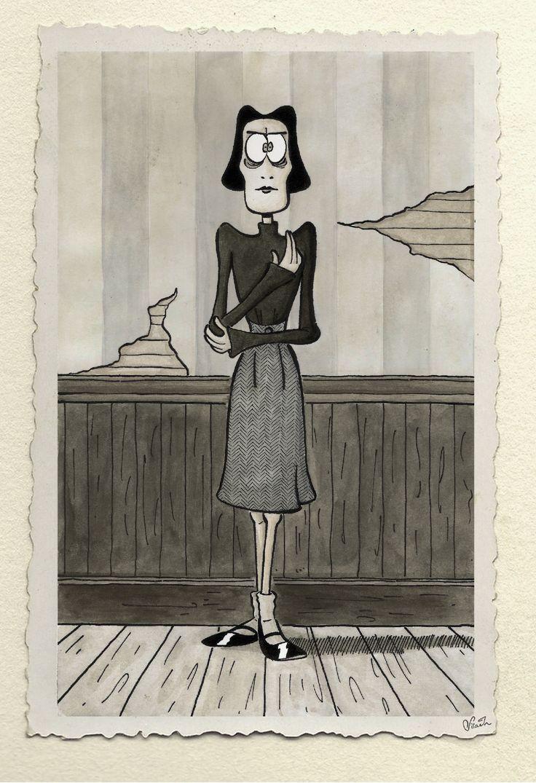 "Thérèse Malaussène, the rigid-as-destiny clairvoyant sister in Daniel Pennac's ""La Saga Malaussène"", one of my favourite book series."
