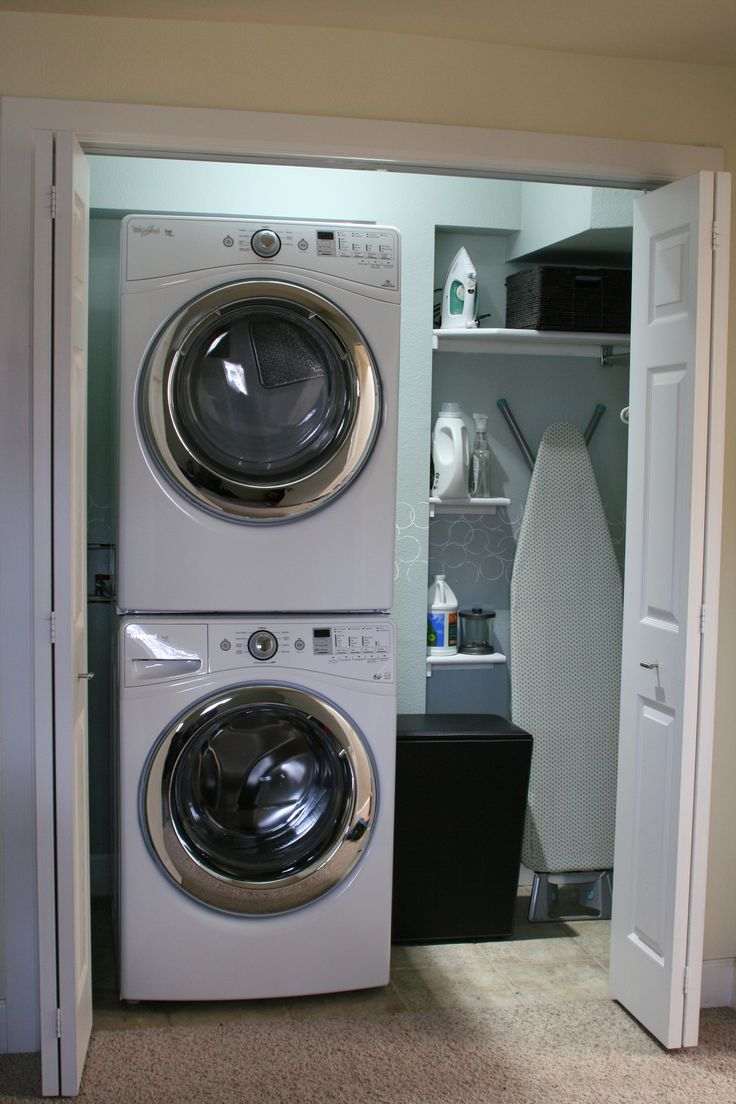Small closet doors the small utility closet - Small Laundry Room Makeover Small Laundry Closetlaundry