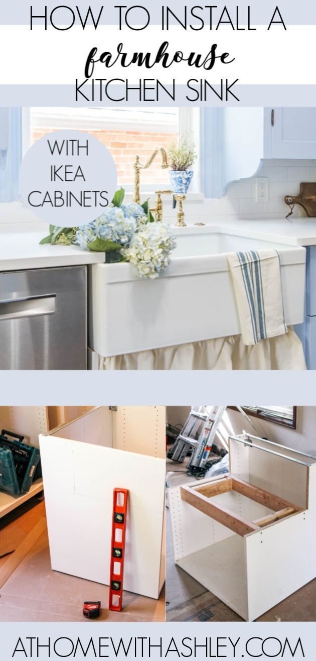 How To Install A Farmhouse Sink Ikea Cabinets Farmhouse Sink