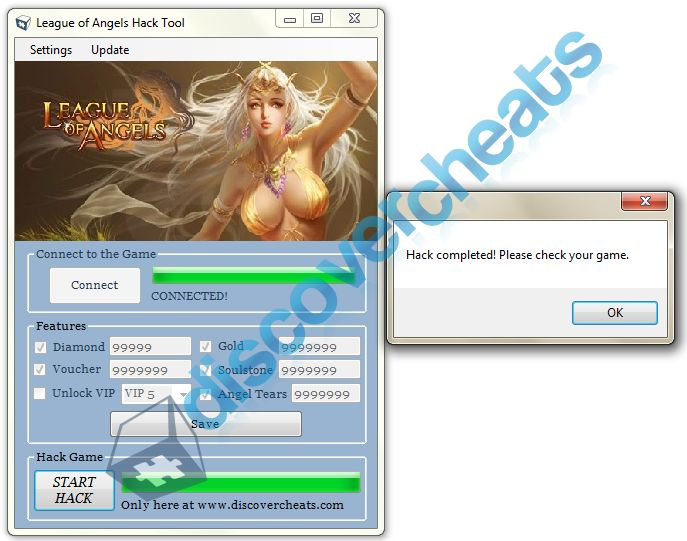 Tired of searching for a real and working League of Angels Hack? Well, here in Discover Cheats our top priority is to give our visitors the satisfaction of