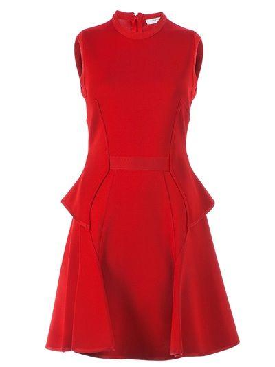 Givenchy Sleeveless Peplum Dress.