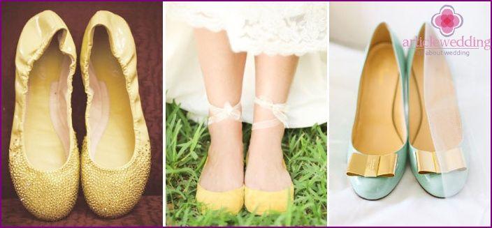 pantofi de balet de nunta pentru mireasa - ce sa alegi, pozele