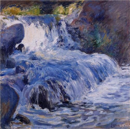 The Waterfall  - John Henry Twachtman