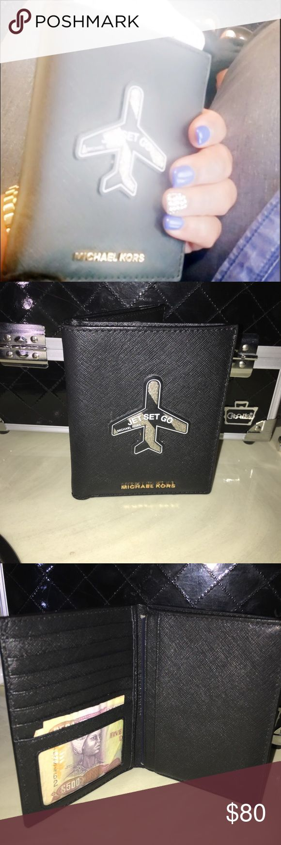 Michael Kors Jet Set Passport Cover (SOLD OUT) ✅ITEM WILL BE VIDEOTAPED WHILE BEING PACKED AT THE POST OFFICE✅ 🚫NO LOWEST🚫NO TRADES.  PRICED TO SELL.  CONDITION: 10/10.  Almost a year old, moving on from this, time for a new jet setter. This is so me & my lifestyle.  The sticker is stuck on & cannot be removed, Saffiano leather, 6 card slots, 1 ID slot, 3 interior & 1 cash slot.  Super classy stylish & trendy.  NO LONGER AVAILABLE.  Questions welcomed. Michael Kors Bags Wallets