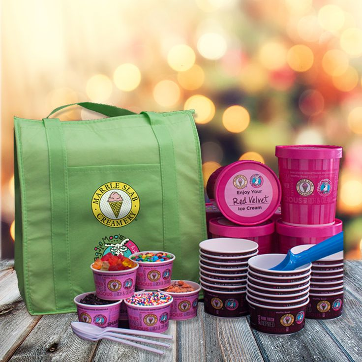 Spoil the kiddos with Marble Slab Creamery's Ice Cream kit. Just what you need for those weekend sleepovers. #RiverOaksShoppingCenter
