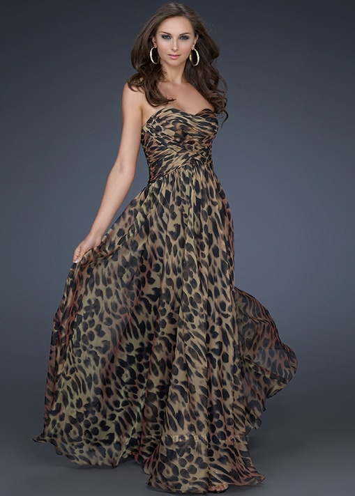 Best 43 Animal print prom dress images on Pinterest | Women's fashion